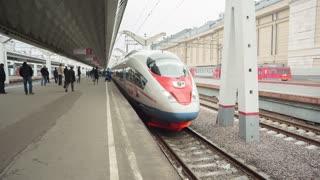Aeroexpress Train Sapsan At The Station