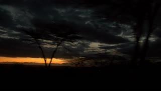 Africa sunset panning