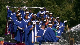 African-american Choir On Parade Float