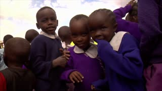African Kids Distracted by the Camera