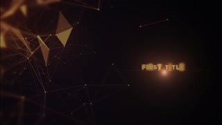 After Effects CS4 Template: Golden Abstract Titles
