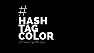 After Effects CS5 Template: Color Hashtag