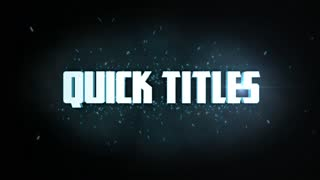 After Effects CS5 Template: Quick Titles