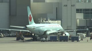 Air Canada Plane at Airport