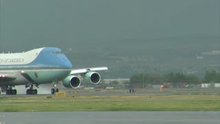 Air Force One Gathers Speed For Take-off