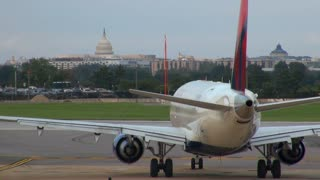 Airplane Headig Towards Runway at DC Airport