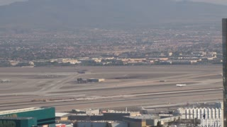 Airplane Take Off From Vegas