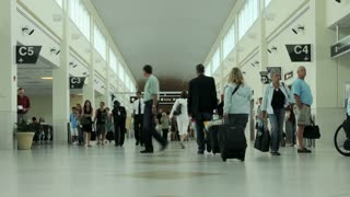 Airport Crowd of People