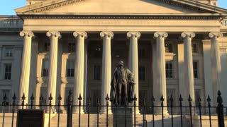 Alexander Hamilton Statue Outside Treasury