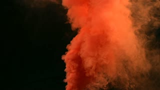 Alpha Channel Cloud of Red Orange Smoke
