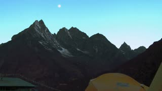 Ama Dablam Himalayan Mountain in Early Morning