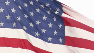 American flag close up and moving in slow motion 2