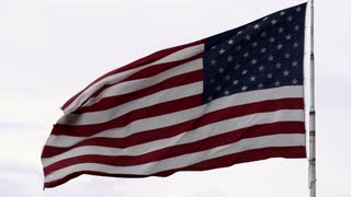 American Flag Waving in Wind 2
