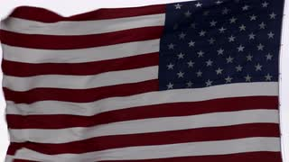 American Flag Waving in Wind 3