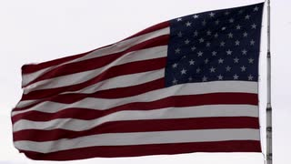 American Flag Waving in Wind 4