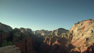 An Afternoon  Time-lapse Of Redrock Mountains
