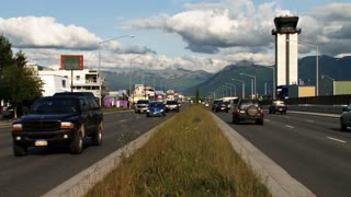 Anchorage Traffic and Landscape