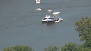 Anchored Boats By DC Bridge