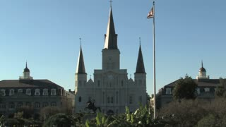 Andrew Jackson Statue and St. Louis Cathedral