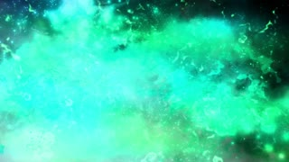 Animated blue green abstract science fiction looping backdrop