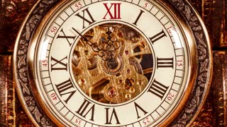 Antique clock dial close-up. Vintage pocket watch.