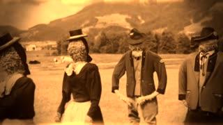 Antique scarecrows