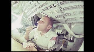 Apollo 10 Astronaut Shaving Face