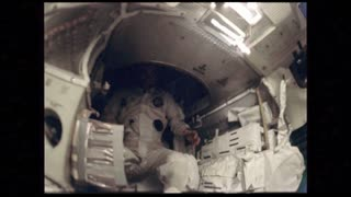 Apollo 12 Astronaut Going Up Tube Then Back Down