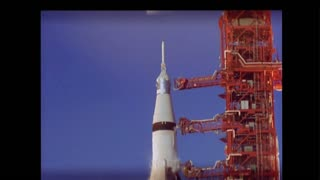 Apollo Rocket Detaching From Launch Tower