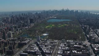 Areial View of Central Park Nestled in New York City