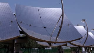 Array of Solar Panels in Desert 12
