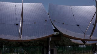 Array of Solar Panels in Desert 13