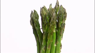 Asparagus Rotating on White Background 2