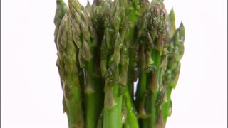 Asparagus Rotating on White Background