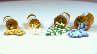 Assorted Pills in Prescription Bottles