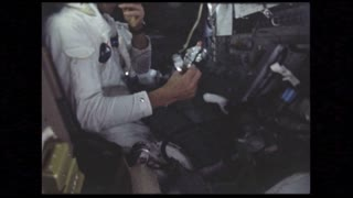 Astronaut Eating in Module