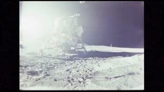 Astronaut Exiting Lunar Module