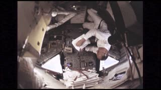 Astronaut in Command Module