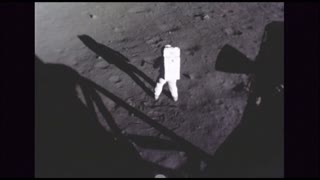 Astronaut Sampling Soil Contents of Moon Surface 2