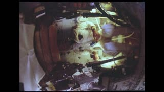 Astronaut Somersaulting in Zero Gravity