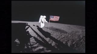 Astronaut Standing By American Flag 2