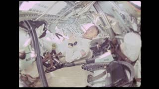 Astronaut Throwing Things in Zero Gravity
