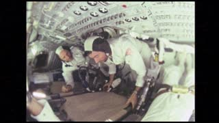 Astronaut Twisting in Apollo 10