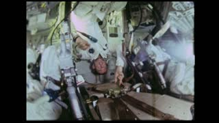 Astronaut Upside in Spacecraft