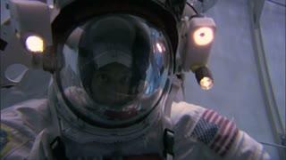 Astronaut Waving Underwater