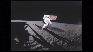Astronauts By American Flag