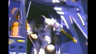 Astronauts Getting Out of Helicopter