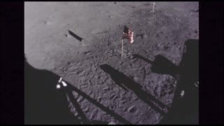 Astronauts Sampling Soil on Moon Surface