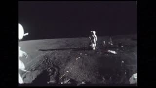 Astronauts Setting Up Lunar Surface Experiments 2