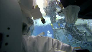 Astronauts Training Floating Underwater